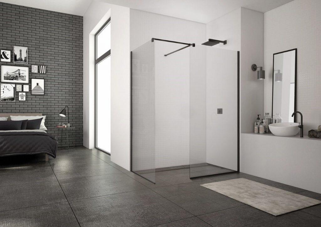 Walk-in zásteny v kúpeľni