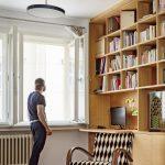 Pracovný kút s knižnicou