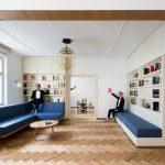 Obývačka s knižnicami