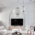 Ručne vyrobené svietidlá v obývačke