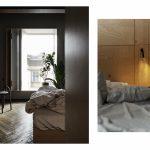 Vstavané podsvietené skrine v spálni