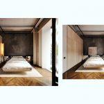 Sivá stena v spálni