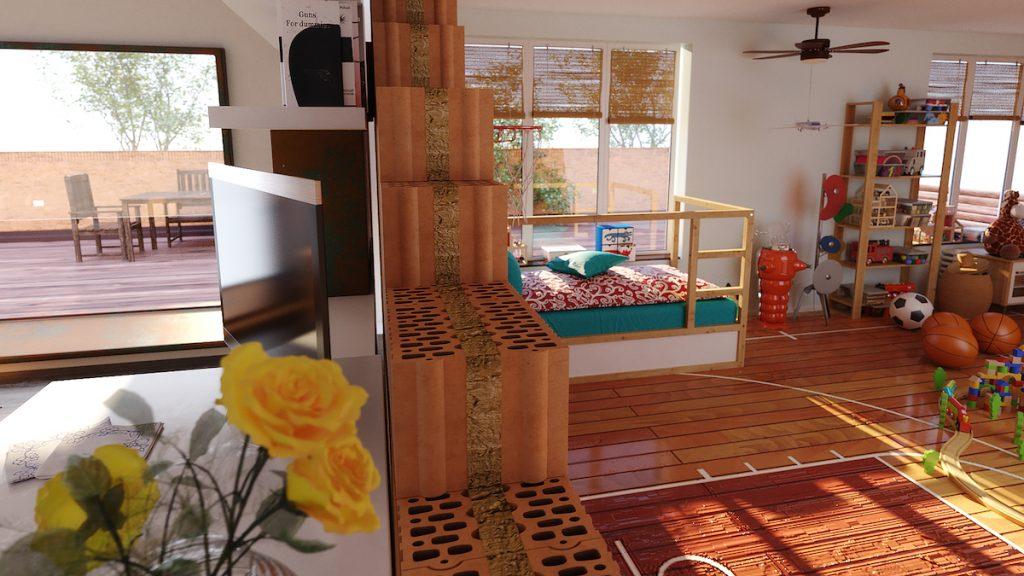 Unikátna akustická tehla HELUZ je určená na vnútorné priečky v rodinných domoch aj medzi bytmi