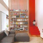 Knižnica červené schodisko