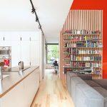 Obývačka s kuchyňou a knižnica