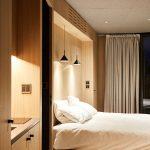 Spálňa v modulovej chatke