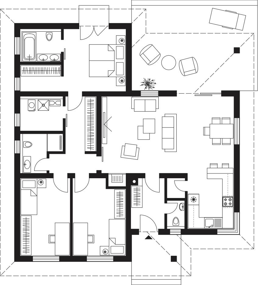Projekt rodinného domu Laguna 4241
