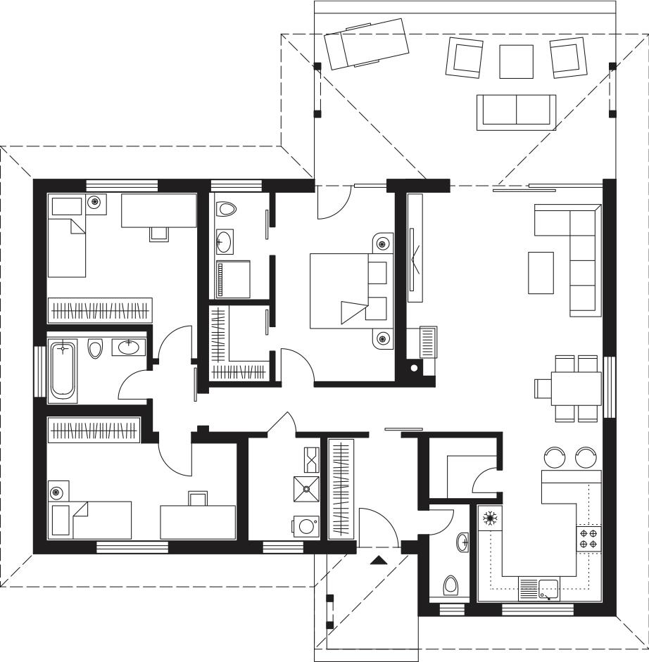 Projekt rodinného domu Laguna 4291