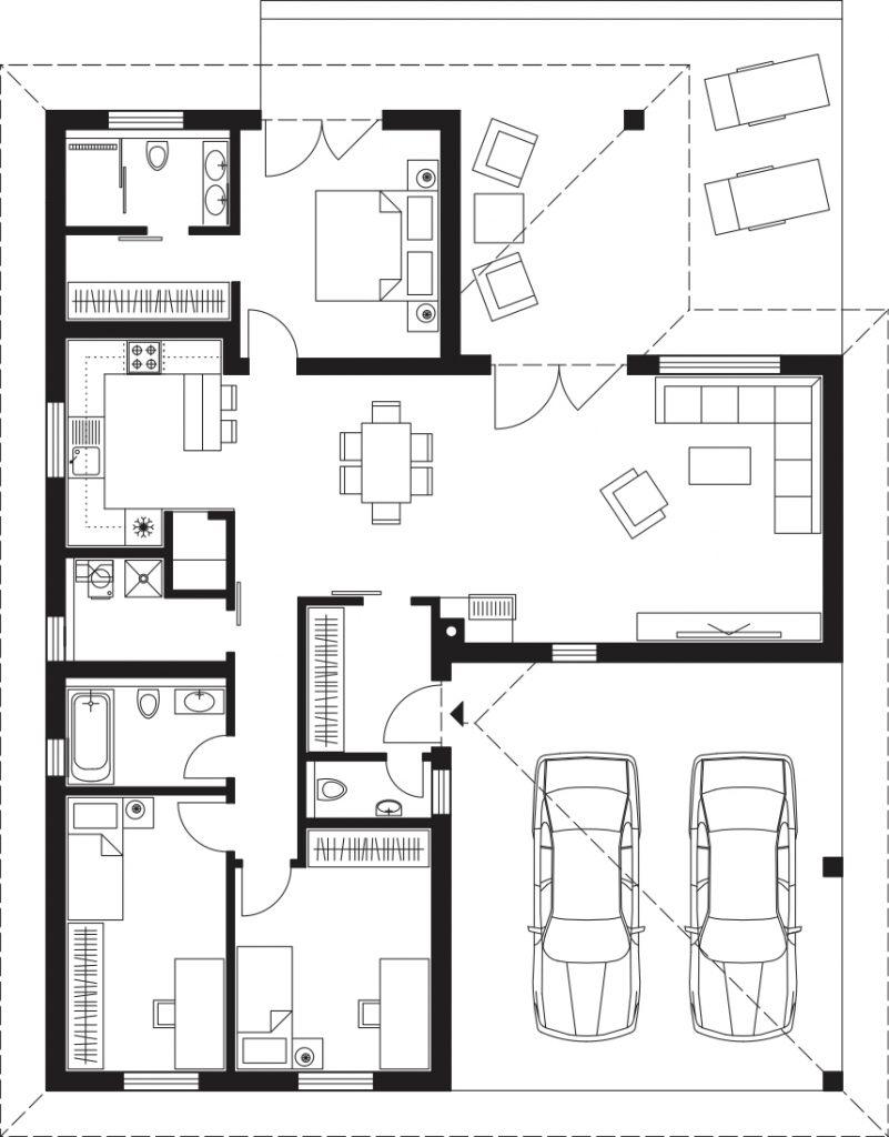 Projekt rodinného domu Laguna 4411