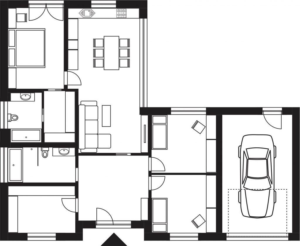Projekt rodinného domu Lucie 668