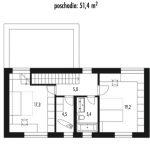 projekt rodinného domu Poschodový 2001