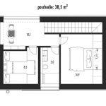 projekt rodinného domu Chata 2021_2