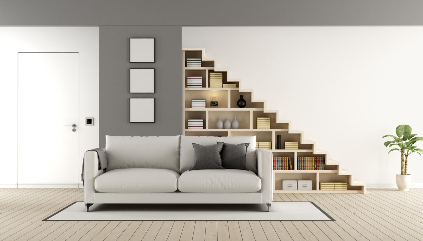 schody s úložným priestorom