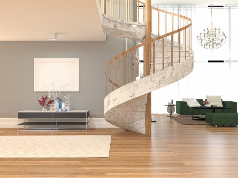 točité schody v obývačke