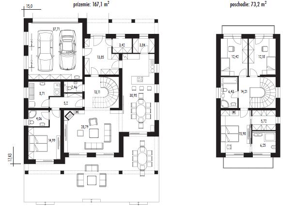 projekt rodinného domu Javijani 65
