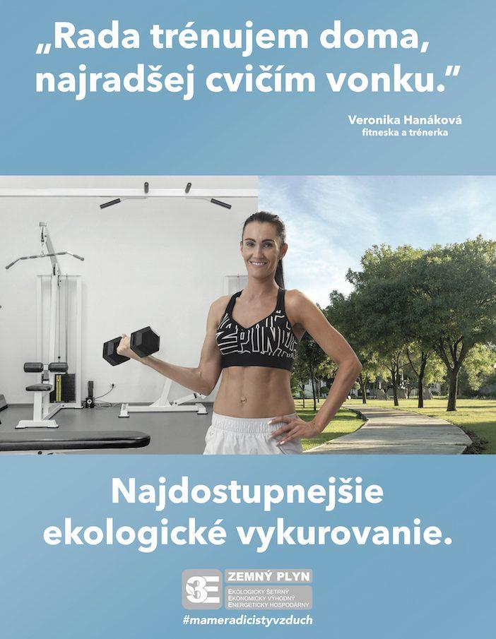 SPP kampaň ekologické vykurovanie trénerka cvičí vonku