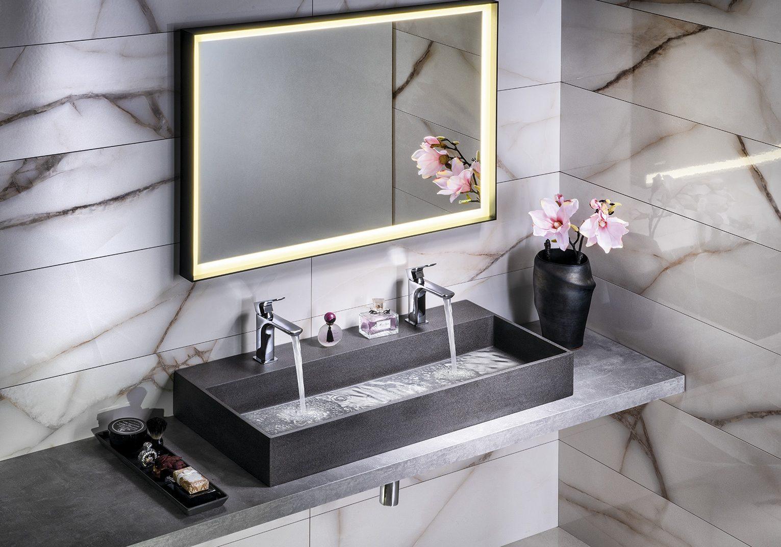 AR473 QUADRADO +ST100 zrcadlo, černý granit