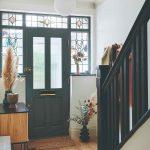 Zasklenné dvere s vytrážou