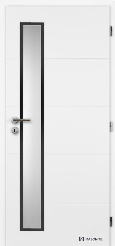 Dvere s úzkym zasklením s čiernym rámčekom
