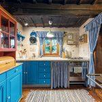 Kuchyňa modrá v chalupe