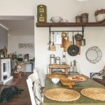 Vidiecka kuchyňa stôl
