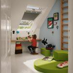 Vnútorné rolety na strešnom okne v detskej