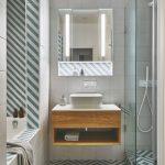 Kúpeľňa pásikavé obklady