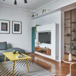 Vysunutá stena v obývačke