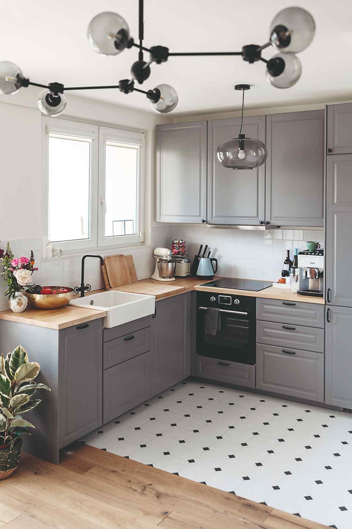 Sivá kuchyňa v anglickom štýle