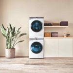 Sušička a práčka v domácej práčovni