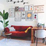 Obývačka v eklektickom štýle