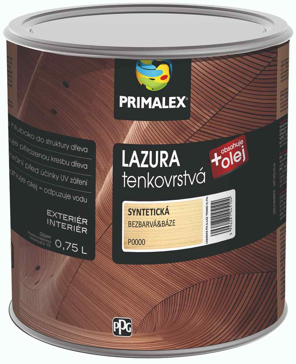 Primalex lazura_tenkovrstva_0,75l