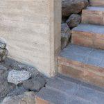 Tehlové schody detail