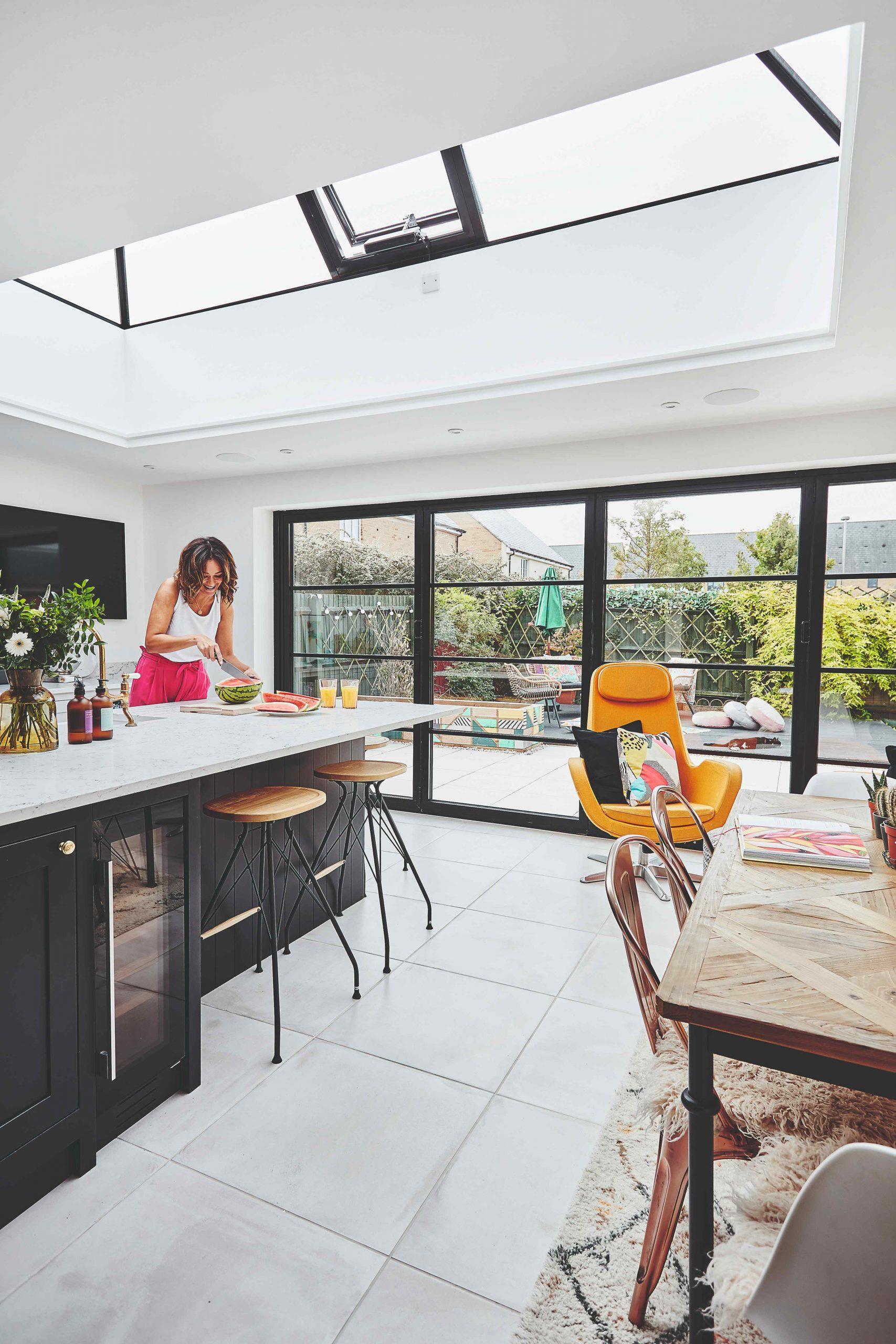 Kuchyňa s preskleným stropom