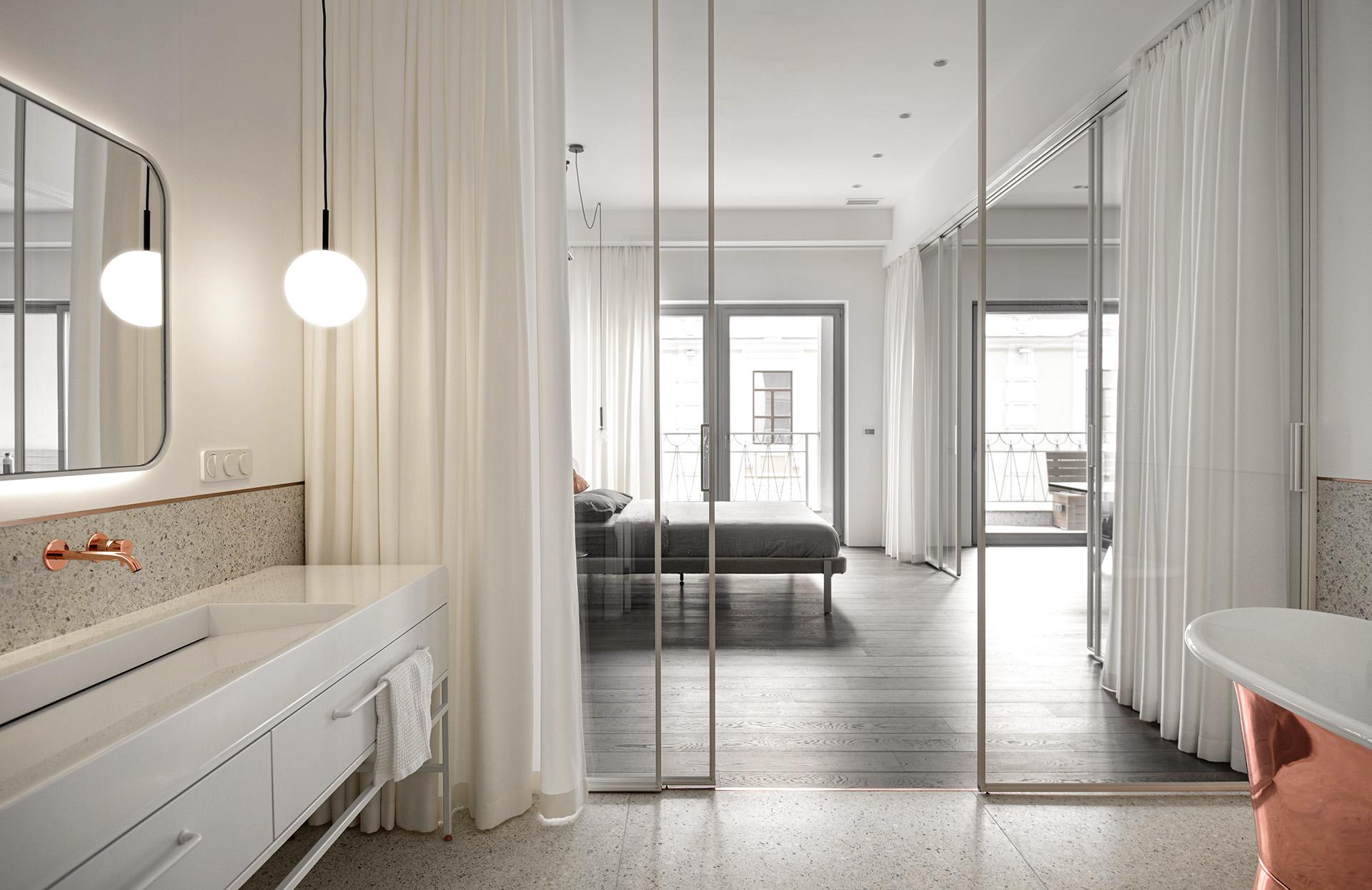 Interiér MFN - byt v Petrohrade po rekonštrukcii