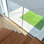 Presklená stena pohľad zo schodiska