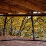 Výhľad cez transparentný plášť zo stromodomu