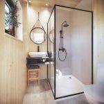 Vybavenie kúpeľne v kontajnerovej chatke