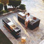 Pult a veľká letná kuchyňa na terase