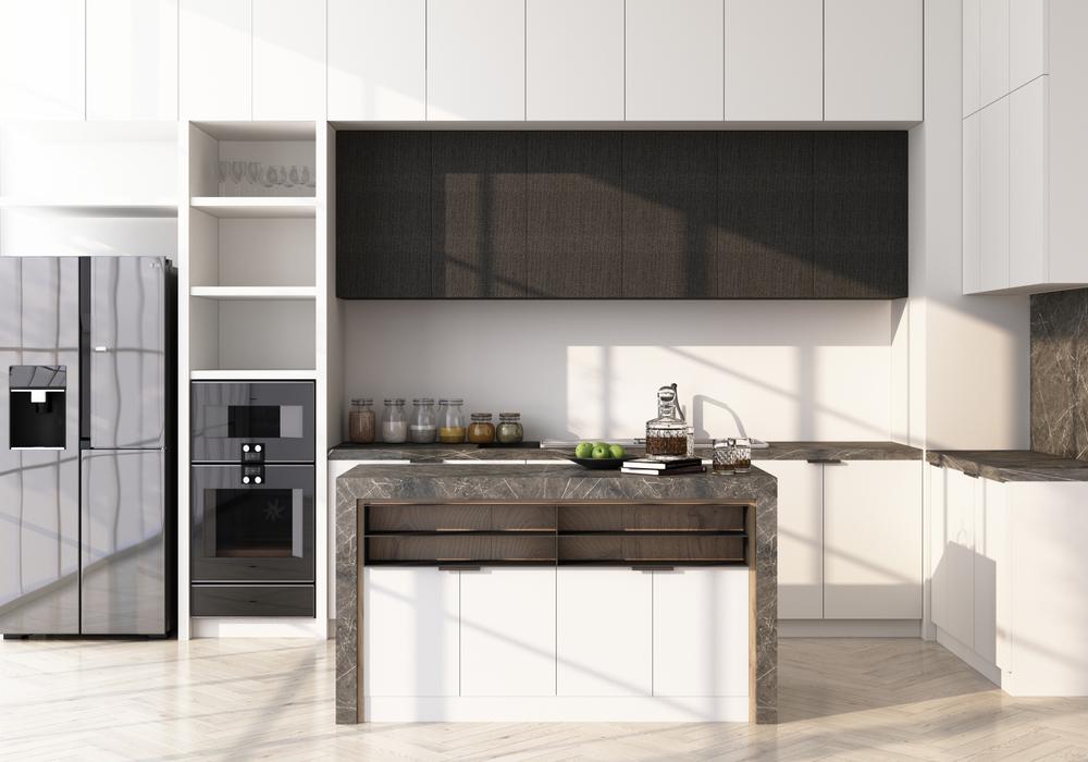 biela kuchyňa s ostrovčekom