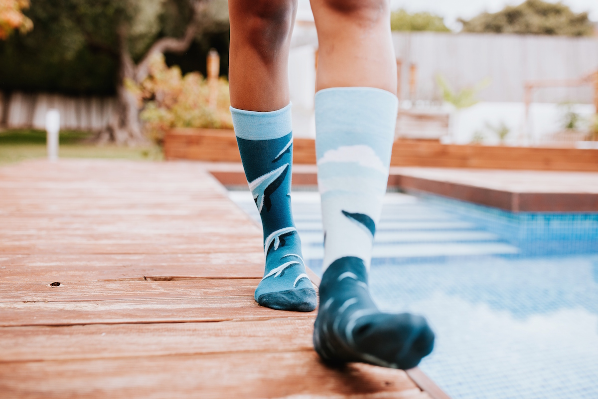 Ponožky s veľrybami