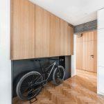 Chodba s úložným priestorom pre bicykel
