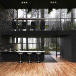 Dve poschodia v modernom dome s kuchyňou a jedálňou