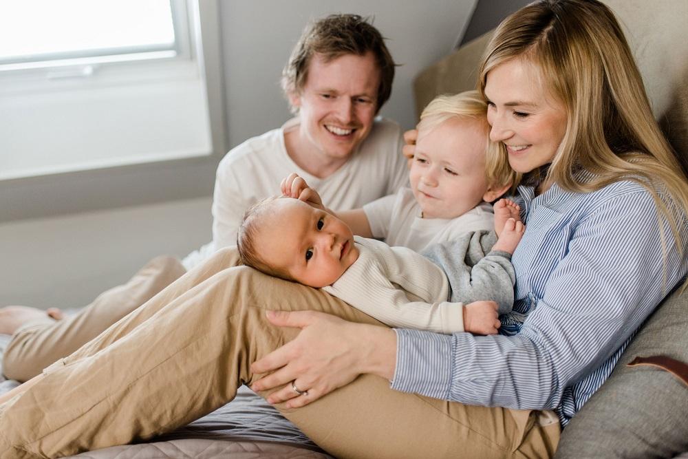 Tereza Salte s rodinou
