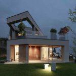 Moderný geometrický rodinný dom