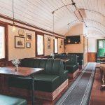 Zelený vagón Depo Café Telgárt interiér