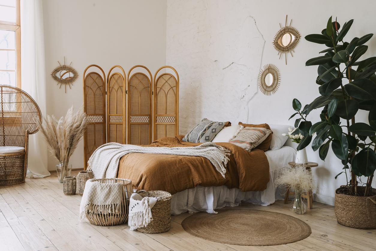 Bohémská spálňa v hygge štýle