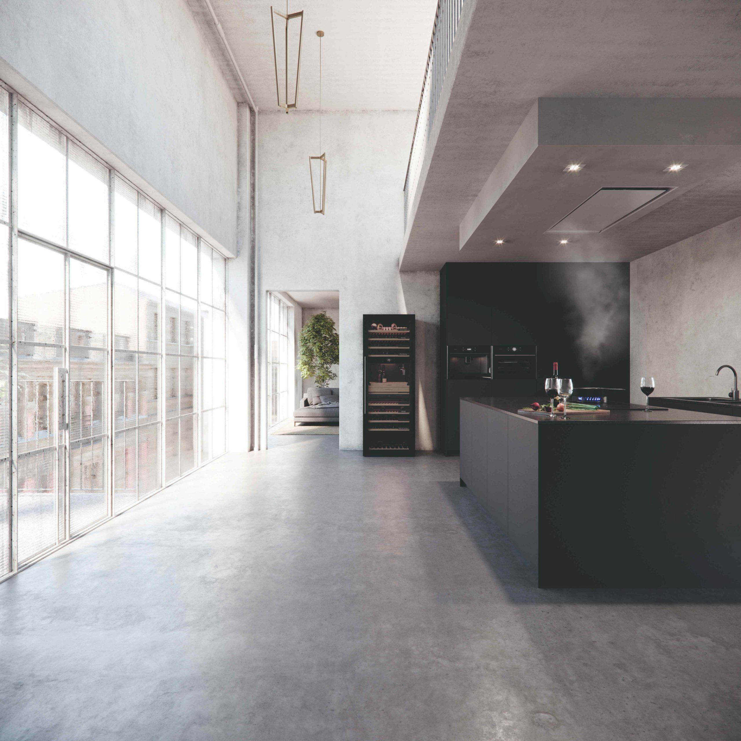 Inteligentná vinotéka v modernej kuchyni
