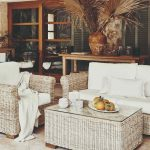 Terasa s ratanovým nábytkom v dome na Malorke