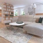 Obývačka s veľkým gaučom